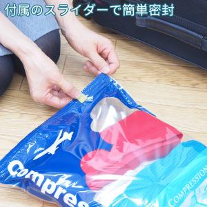 衣類圧縮袋 10枚組 旅行 トラベル スライダー1個付き 日本製 掃除機いらず 巻くだけ 押すだけ 衣類収納袋 圧縮袋 海外旅行 国内旅行 出張|kurazo|06