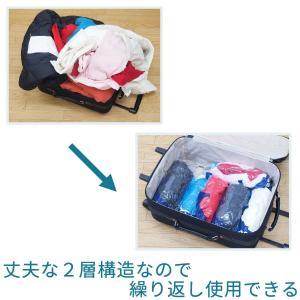 衣類圧縮袋 10枚組 旅行 トラベル スライダー1個付き 日本製 掃除機いらず 巻くだけ 押すだけ 衣類収納袋 圧縮袋 海外旅行 国内旅行 出張|kurazo|07