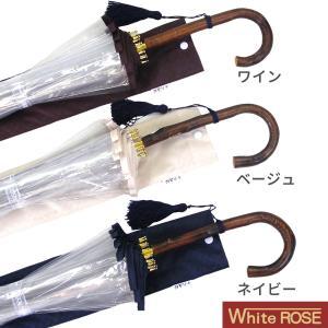 十六夜桜(いざよいさくら) 手開き長傘(収納用袋付)16本骨‐ホワイトローズ社 最高級透明傘 丈夫なビニール傘 風に強い 軽量 女性用|kurazo|07