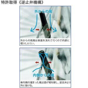 かてーる16桜 手開き長傘(収納用袋付)16本骨‐ホワイトローズ社 カテール16 最高級透明傘 丈夫なビニール傘 風に強い 軽量|kurazo|07
