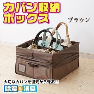 除湿 & 消臭 カバン収納 ボックス(ブラウン)O-1061〈送料無料〉|kurazo