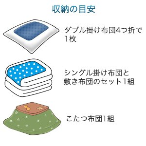 日本製 ふとん 圧縮袋 大判 5枚組 ハイパーノズル付‐布団 洋服 圧縮 バルブ式 掃除機 逆止弁〈送料無料〉|kurazo|03