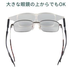 メガネ型 拡大鏡 LEDライト付-両手が使える 眼鏡の上から クリップ式LEDライト付 拡大率1.6倍 クリアレンズ 男女兼用 老眼鏡 ルーペ 作業用 手元明るく|kurazo|06