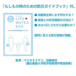 非常用給水袋 せおう水袋 ライフウォーターバッグ 5L×2枚 あおぞら 給水バッグ 非常用 災害用 携帯水袋〈送料無料〉|kurazo|06
