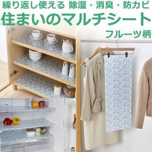 除湿 消臭 防カビシート(フルーツ柄) 日本製‐住まいのマルチシート 繰り返し使える 再生 サインシール 下駄箱 冷蔵庫シート クローゼット|kurazo