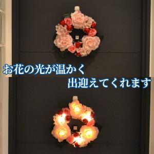 LEDライト ローズリース‐お花 ギフト  アーティシャルフラワー  センサーライト インテリア ディスプレイ 母の日 父の日|kurazo|05