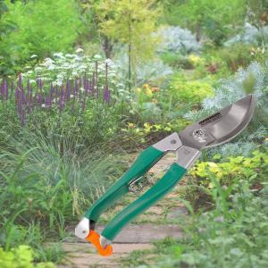ステンレス 剪定ばさみ-すべりにくい グリップ式 花ハサミ ガーデニング 植木 鋏 HAC2065|kurazo|03