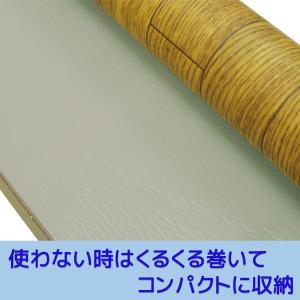 トイレマット 拭ける フローリング調 ワイドロング(80×120cm)-ビニール製 ナチュラル  木目調 ブラウン 飛び散り防止 汚れ防止 防水 単品|kurazo|03