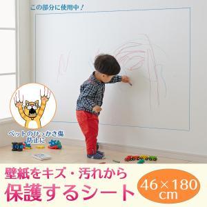壁紙をキズ・汚れから保護するシート 46×180cm S-317‐壁保護シート ネコ 猫 爪 落書き|kurazo