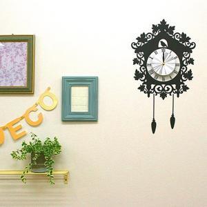 ウォール クロック ステッカー‐時計 壁掛け シール 壁紙 ウォールステッカー 猫 ねこ キャット Wall Clock Sticker kurazo 13