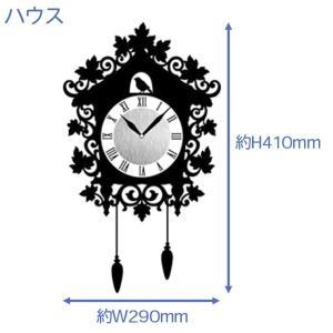ウォール クロック ステッカー‐時計 壁掛け シール 壁紙 ウォールステッカー 猫 ねこ キャット Wall Clock Sticker kurazo 03
