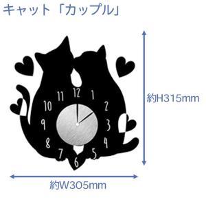 ウォール クロック ステッカー‐時計 壁掛け シール 壁紙 ウォールステッカー 猫 ねこ キャット Wall Clock Sticker kurazo 06