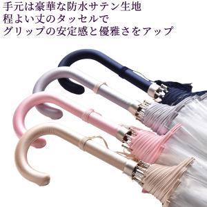 縁結(えんゆう) 手開き長傘(収納用袋付)8本骨‐ホワイトローズ社 園遊会特別仕様 最高級透明傘 丈夫なビニール傘 風に強い 軽量|kurazo|02
