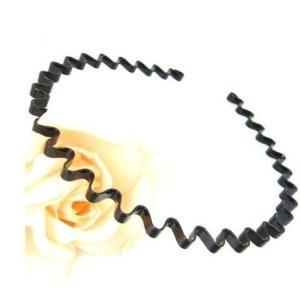 ユニセックス ヘアアクセサリー 髪留め 金属のウェーブ(波型)カチューシャ  髪にウェーブ模様を浮か...