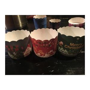 マフィンカップ クリスマス使用 Φ58×50 3種50枚入(...