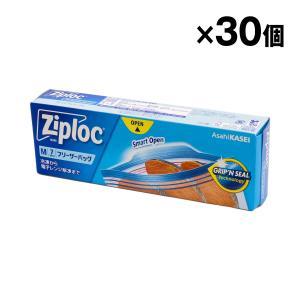 ジップロック フリーザーバッグ M7枚入×30個 旭化成 食品の保存に ケース売り|kuriten