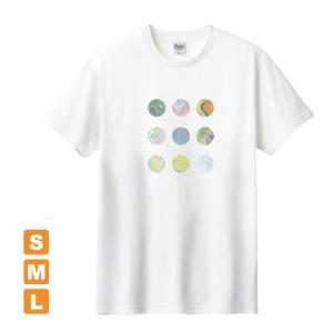 かわいいドット 白 アトリエmimaRe オリジナルイラストプリント 半袖 Tシャツ|kuriten