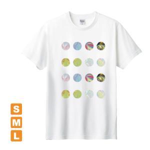 もっとかわいいドット 白 アトリエmimaRe オリジナルイラストプリント 半袖 Tシャツ|kuriten