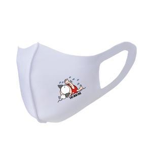 繰り返し使える クリエーターズマスク ユニーク な スポーツキャラクター イラスト プリント 水泳 kuriten