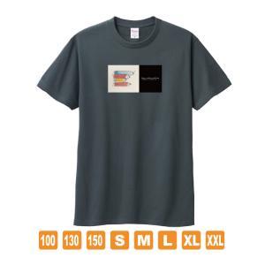 ころがるイノシシのように デニムカラー おかしなせかい オリジナルイラスト Tシャツ 半袖 kuriten
