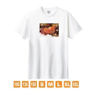 雷の鶏 白 おかしなせかい オリジナルイラストプリント 半袖 Tシャツ kuriten