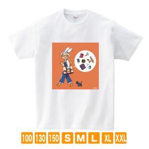 おでかけセット ホワイト サナダシン オリジナルイラスト Tシャツ 半袖|kuriten