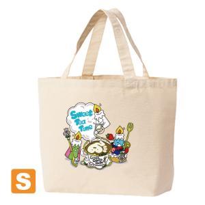 「ティータイム」キャンバストートバック Sサイズ ナチュラル ユコ イラストプリント|kuriten