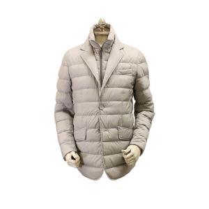 ヘルノHERNO/国内正規品/メンズレイヤードジャケット型ダウン「PI001ULE」/(1800/グレー)/20-21秋冬新作|kuriya-house