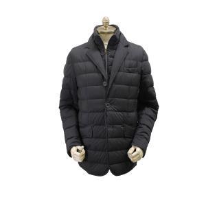 ヘルノHERNO/国内正規品/メンズレイヤードジャケット型ダウン「PI001ULE」/(9200/ネイビー)/20-21秋冬新作|kuriya-house