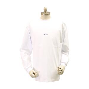 MSGM エムエスジーエム / シャツ / メンズ Tシャツ ロングTシャツ ロゴ マイクロ / おしゃれ / 白 / 服 長袖 /20-21秋冬新作|kuriya-house