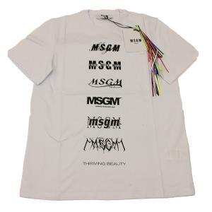 MSGM エムエスジーエム / 3040MM103 / シャツ / メンズ Tシャツ ロゴTシャツ / おしゃれ / 白 ホワイト / 服 半袖 /21春夏新作|kuriya-house
