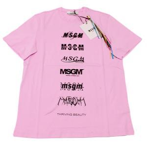 MSGM エムエスジーエム / 3040MM103 / シャツ / メンズ Tシャツ ロゴTシャツ / おしゃれ / ピンク / 服 半袖 /21春夏新作|kuriya-house