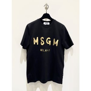 MSGM エムエスジーエム / 3040MM97J/シャツ / メンズ Tシャツ ロゴTシャツ / おしゃれ /99A 黒 ブラック / 服 半袖 /21春夏新作|kuriya-house