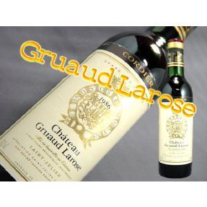 シャトー グリュオー ラローズ'1986 赤ワイン 各付け第二級 375ml|kuroiwasaketen