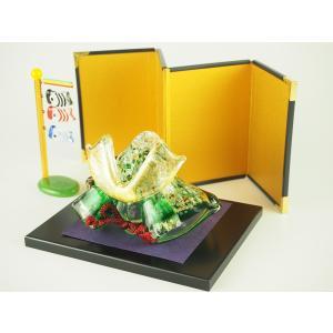 瑠璃兜セット 兜 室内 子供の日 端午の節句 節句 五月人形 ガラス コンパクト 5月 ギフト|kurokabe
