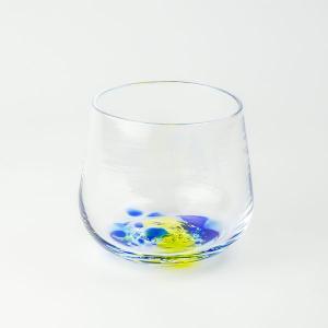 ハンドメイド テーブルウェア 食卓 日本製 記念品 お祝い プレゼント ガラス グラス 「kohakutoグラス(ブルー)」|kurokabe