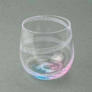 ハンドメイド テーブルウェア 食卓 日本製 記念品 お祝い プレゼント ガラス 「オーロラグラス(ブルー&ピンク)」|kurokabe