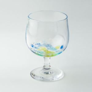 ハンドメイド テーブルウェア 食卓 日本製 記念品 お祝い プレゼント ワインガラス グラス 「kohakutoワイングラス(ブルー)」|kurokabe