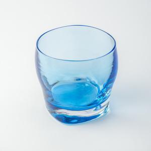 ハンドメイド テーブルウェア 食卓 日本製 記念品 お祝い プレゼント ガラス 「スクエアロック(ブルー)」|kurokabe
