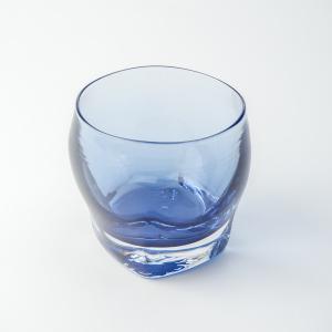 ハンドメイド テーブルウェア 食卓 日本製 記念品 お祝い プレゼント ガラス 「スクエアロック(紺)」|kurokabe