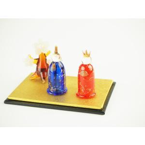 ガラスのお雛様 雛人形 ひなまつり 節句 ギフト 「立ち雛と桜の木セット」|kurokabe