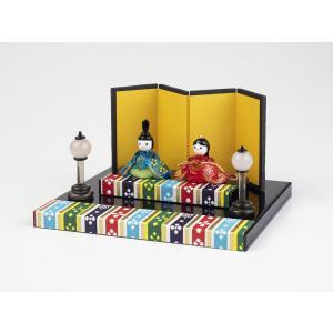 ガラスのお雛様 雛人形 ひなまつり 節句 ギフト 「祝い春雛セット」|kurokabe