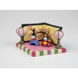 ガラスのお雛様 雛人形 ひなまつり 節句 ギフト 「おさな雛菱台セット」|kurokabe