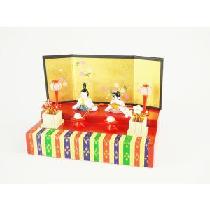 ガラスのお雛様 雛人形 ひなまつり 節句 ギフト 「幸せ雛飾り」|kurokabe