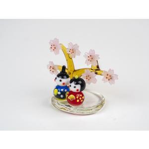 ガラスのお雛様 雛人形 ひなまつり 節句 ギフト 「春うらら雛」|kurokabe