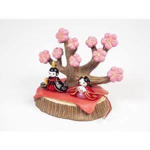 ガラスのお雛様 雛人形 ひなまつり 節句 ギフト 「いにしへ都雛桜の木セット」|kurokabe