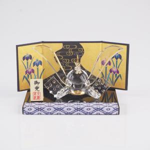 龍神兜飾り 兜 室内 子供の日 端午の節句 節句 五月人形 コンパクト ガラス 5月 ギフト|kurokabe