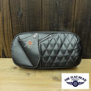 THE FLAT HEAD ホースハイドボディバッグ(ブラック)HDB-003|kurokawa96