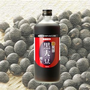 発酵黒大豆搾り(黒豆の黒酢)1本|kuromame