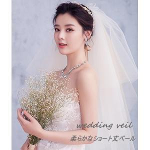 花嫁さまのマストアイテム!ウェディングベール。  軽やかで使い勝手の良いアイテムです。  乙女っぽい...